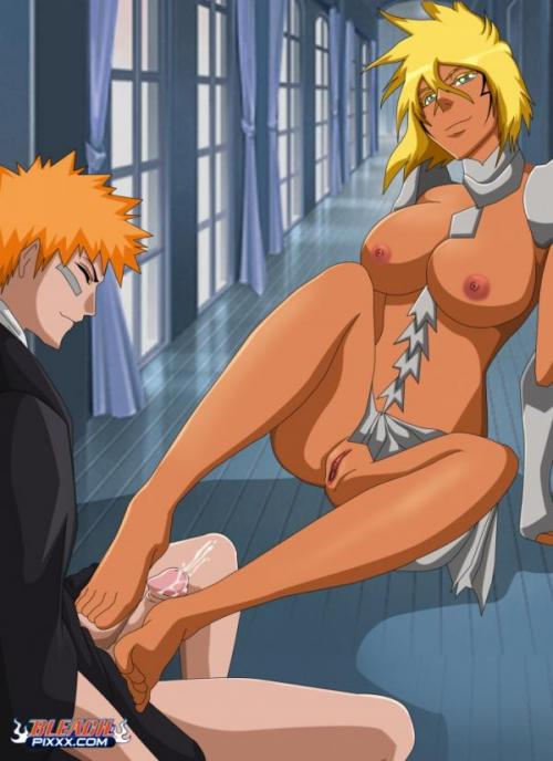 Doujin Hentai Bleach Naruto. Yearning Bleach babe wants to feel hard black ...